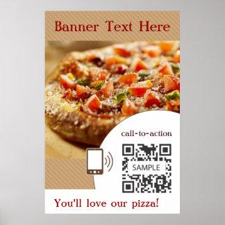 De Pizza van de Sjabloon van het poster