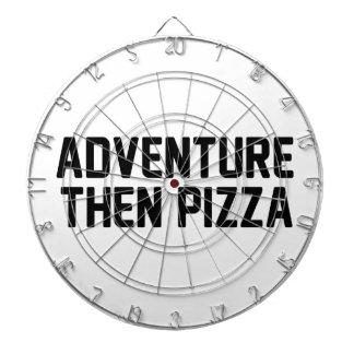 De Pizza van het avontuur toen Dartbord