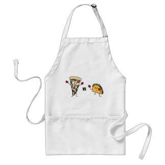 De Pizza van pepperonis VERSUS Taco: Mexicaan Standaard Schort