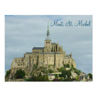 De plaats van Sint Michel Unesco Heritage van Briefkaart