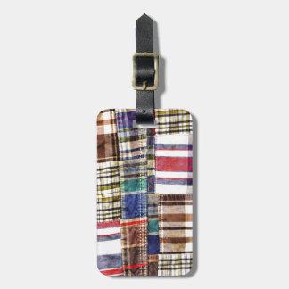 De Plaid/het Geruite Schotse wollen stof van het Kofferlabel