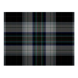 De Plaid van het geruite Schotse wollen stof Briefkaart