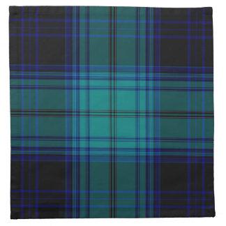 De Plaid van het geruite Schotse wollen stof Servet