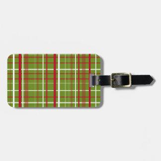 De Plaid van het Geruite Schotse wollen stof van Bagagelabel