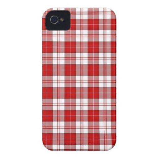 De Plaid van het Geruite Schotse wollen stof van M iPhone 4 Cover
