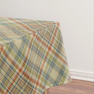 De plaidpatroon van pastelkleuren tafelkleed