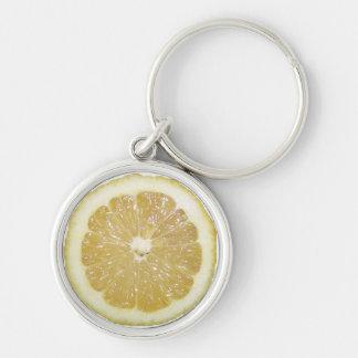 De Plak van de citroen Sleutelhanger