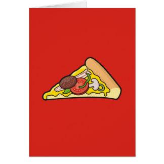 De plak van de pizza briefkaarten 0