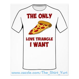 De Plak van de pizza - de Enige Driehoek van de Li Flyer 11,4 X 14,2 Cm