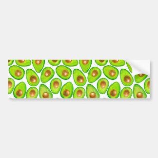 De plakkenwaterverf van de avocado bumpersticker
