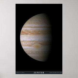 De planeet Jupiter Poster