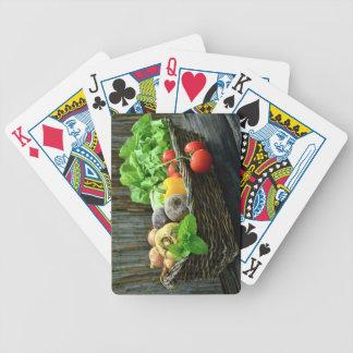 De Plantaardige Oogst van de Thanksgiving in een Poker Kaarten