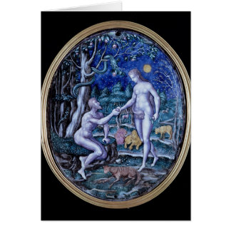 De plaque die van Limoges Adam en Vooravond, Briefkaarten 0