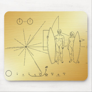 De plaque Surfer van de pionier Muismatten