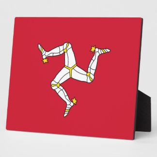 De Plaque van de Vlag van het Eiland Man Fotoplaat