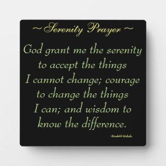 De Plaque van het Citaat van het Gebed van de Fotoplaat