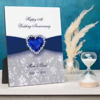De Plaque van het Jubileum van het Huwelijk van he Fotoplaten