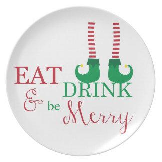 De Platen van de Partij van Kerstmis eten, drink, Party Borden