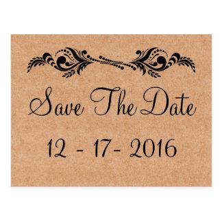 De plattelander bewaart de Datum het Bruine Briefkaart