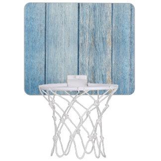 De plattelander doorstond blauwe houten mini basketbalring