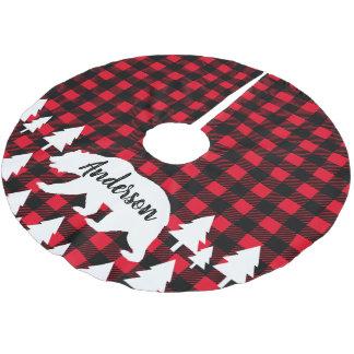 De Plattelander van de cabine draagt de Kerstboom Rok