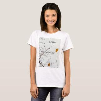 De Plattelander van de Winter van Hello T Shirt