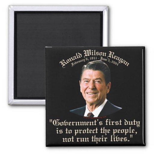 De Plicht van de Overheid van Reagan Koelkast Magneten