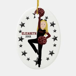 De Ploeg van Pom van de blonde in Zwart & Keramisch Ovaal Ornament