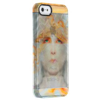 De plons van Kleur maakt omhoog de Fantasie van de Doorzichtig iPhone SE/5/5s Hoesje
