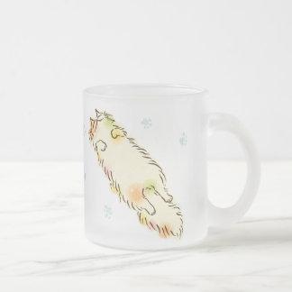De pluizige Kat van de Plof (Calico) Matglas Koffiemok