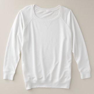 De plus-Grootte Franse Terry Long Sleeve Shirt van