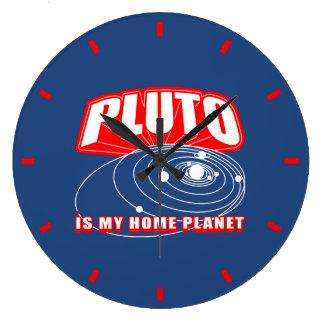 De Pluto is Mijn Planeet van het Huis Ronde Klok Large