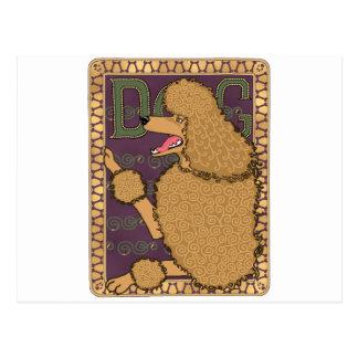 De Poedel van de Jugendstil Briefkaart