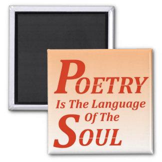 De poëzie is de Taal van de Ziel: Versie 2 Magneet