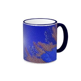 De Poinsettia Blauwe I van Kerstmis Bekers