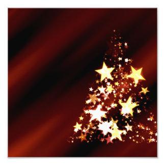 De Poinsettia van de Kerstboom van Kerstmis van de Foto Print