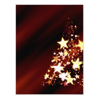 De Poinsettia van de Kerstboom van Kerstmis van de Fotografische Afdruk