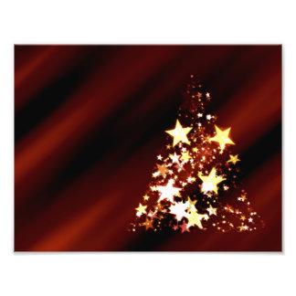 De Poinsettia van de Kerstboom van Kerstmis van de Foto Afdruk