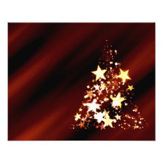 De Poinsettia van de Kerstboom van Kerstmis van de Foto Prints