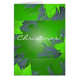 De Poinsettia van Kerstmis Groen in het Engels Wenskaart