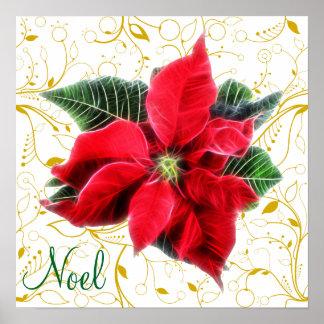 De Poinsettia van Noel Poster