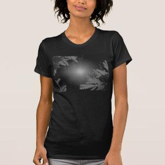 De Poinsettia Zwarte en Grijze I van Kerstmis T Shirt