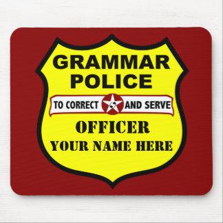 De Politie Klantgerichte Mousepad van de grammatic Muismatten