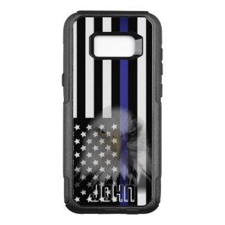 De politie markeert   Langzaam verdwenen Eagle OtterBox Commuter Samsung Galaxy S8+ Hoesje