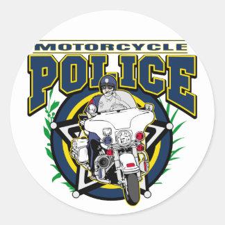 De Politie van de motorfiets Ronde Sticker