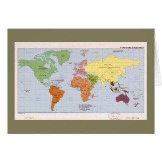 De Politieke Regionale Kaart van de wereld (1985)