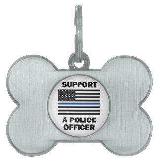 De Politiemannen van de steun Huisdieren Naamplaatjes