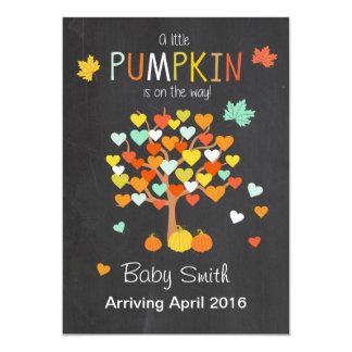 De Pompoen van de de zwangerschapsaankondiging van 12,7x17,8 Uitnodiging Kaart