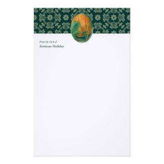 De Pompoen van de herfst en Gepersonaliseerd Briefpapier