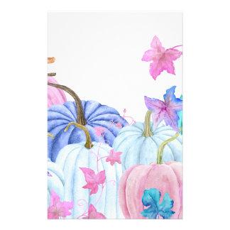 De pompoen van de Pastelkleur van de waterverf en Briefpapier